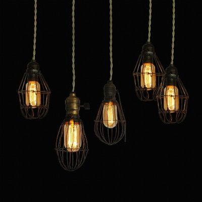 1000+ images about 1910 Squirrel Cage Vintage Bulb on Pinterest |  Chandelier lighting, Industrial wall lights and Vintage