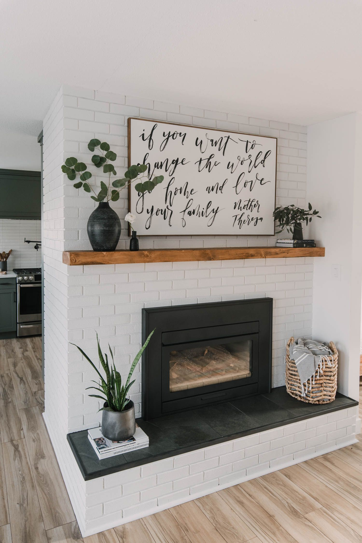 Diy Brick Fireplace Makeover In 2020 Diy Fireplace Makeover Diy