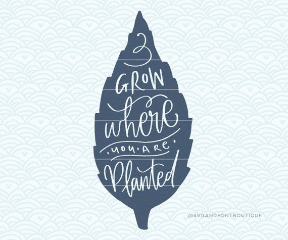 Download SVG Cuttable Vector - Grow where you are planted. Print or ...
