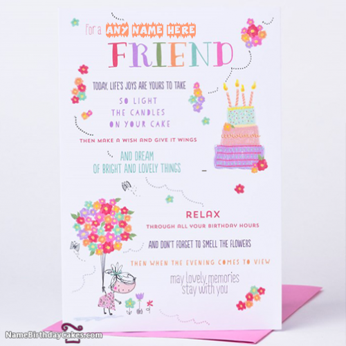 Birthday Cards For Best Friend With Name Card Making Birthday Free Birthday Card Birthday Cards For Friends