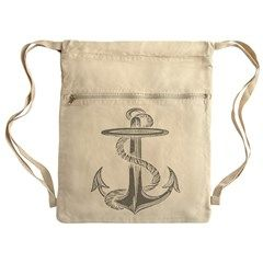 Awesome Vintage Anchor Drawstring Bag