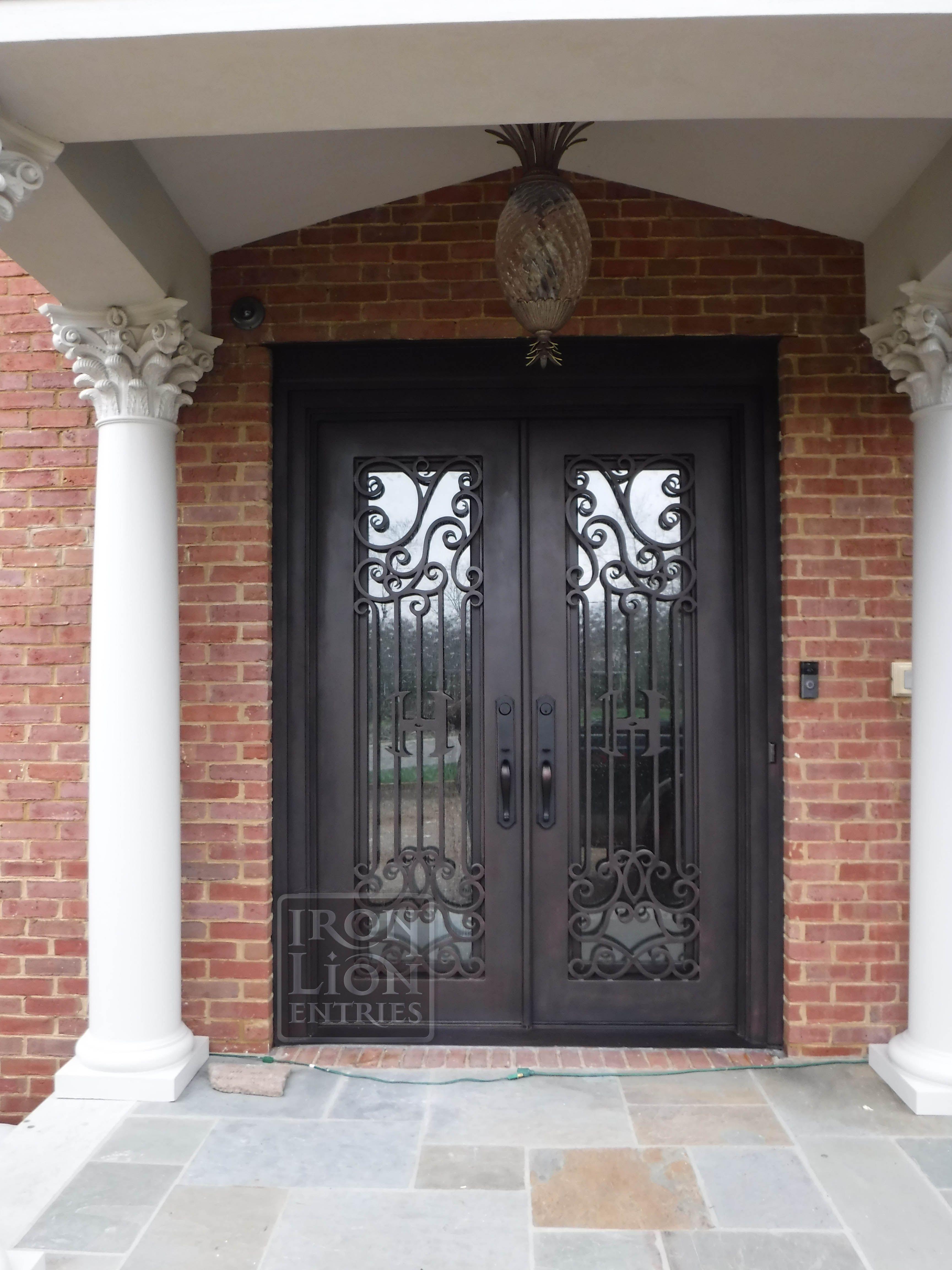 Iron Lion Entries Custom Iron Door Design Front Door Remodel