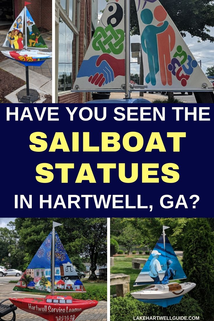 Have you seen the sailboat statues in hartwell hartwell