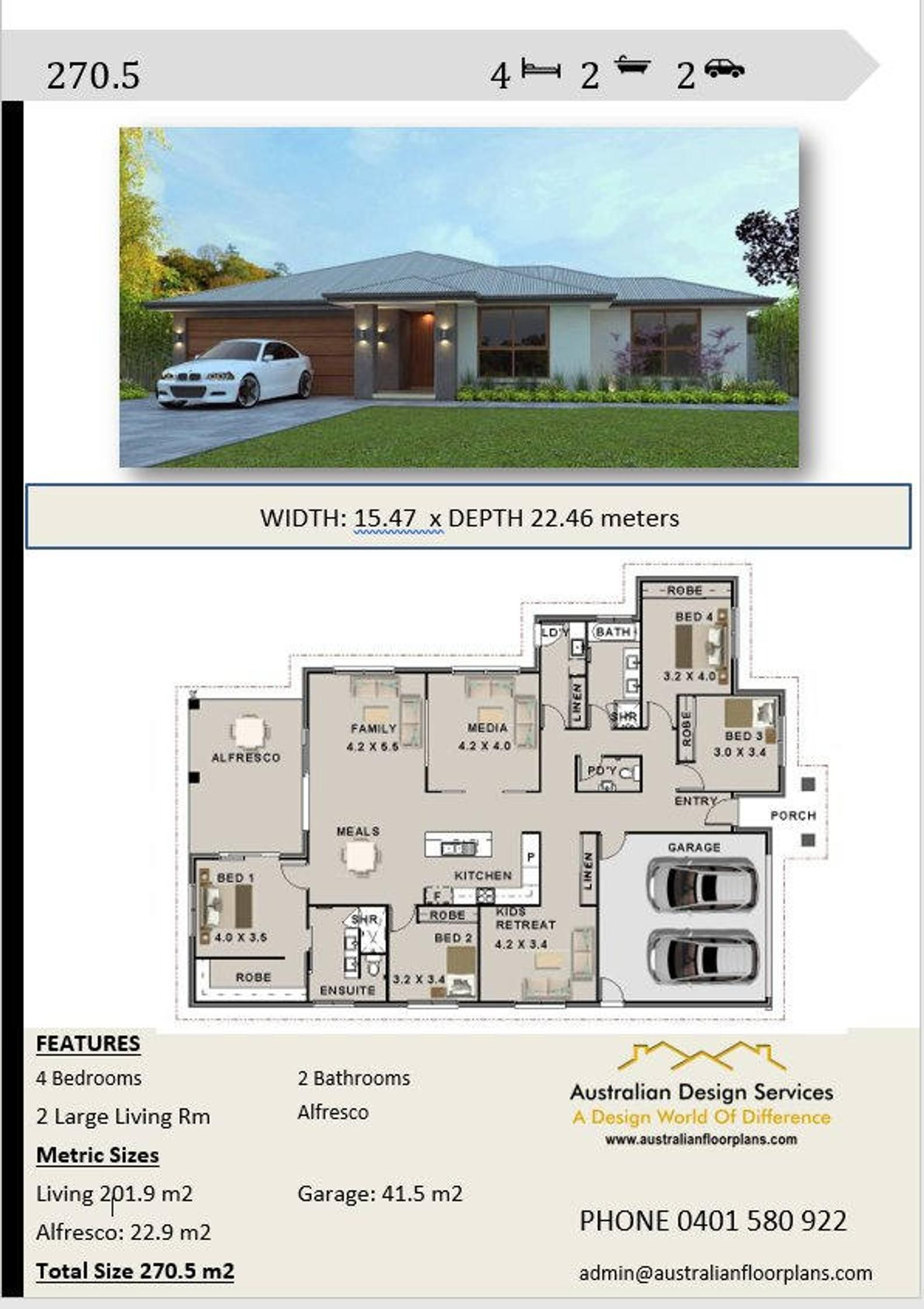 House Plans 270 5 M2 4 Bed House Plan 4 Bedroom Modern 4 Etsy Affordable House Plans Modern House Plans Family House Plans