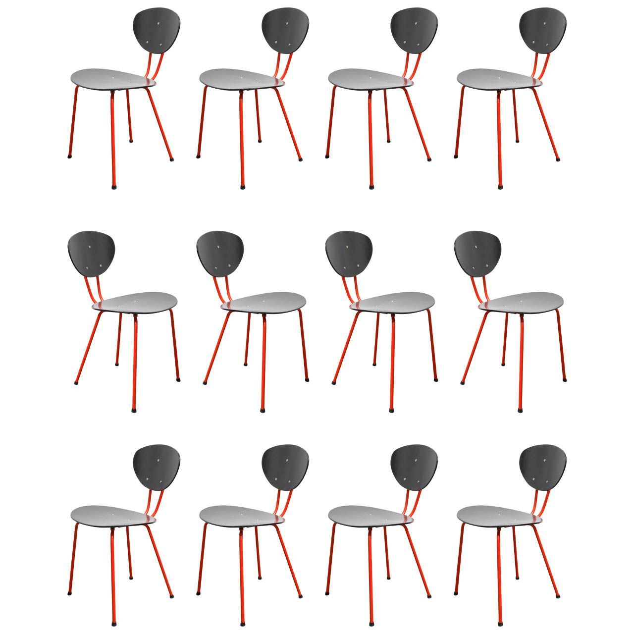 Set of 12 Side Chairs | From a unique collection of antique and modern dining room chairs at http://www.1stdibs.com/furniture/seating/dining-room-chairs/