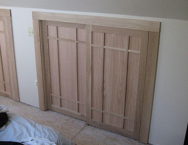 Bypass+Closet+Doors | 09 Craftsman Closet Doors Craftsman Style Oak Bypass Closet  Doors .