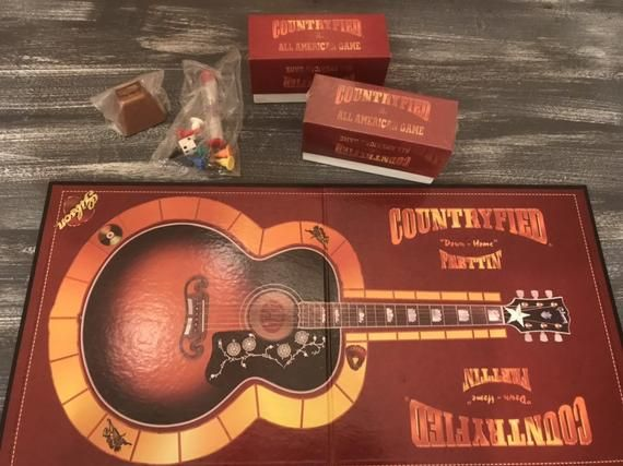 Countryfied The All American Game by Gibson Guitar Country Music Game Vintage 1997 COMPLETE pieces sealed in bag #gibsonguitars