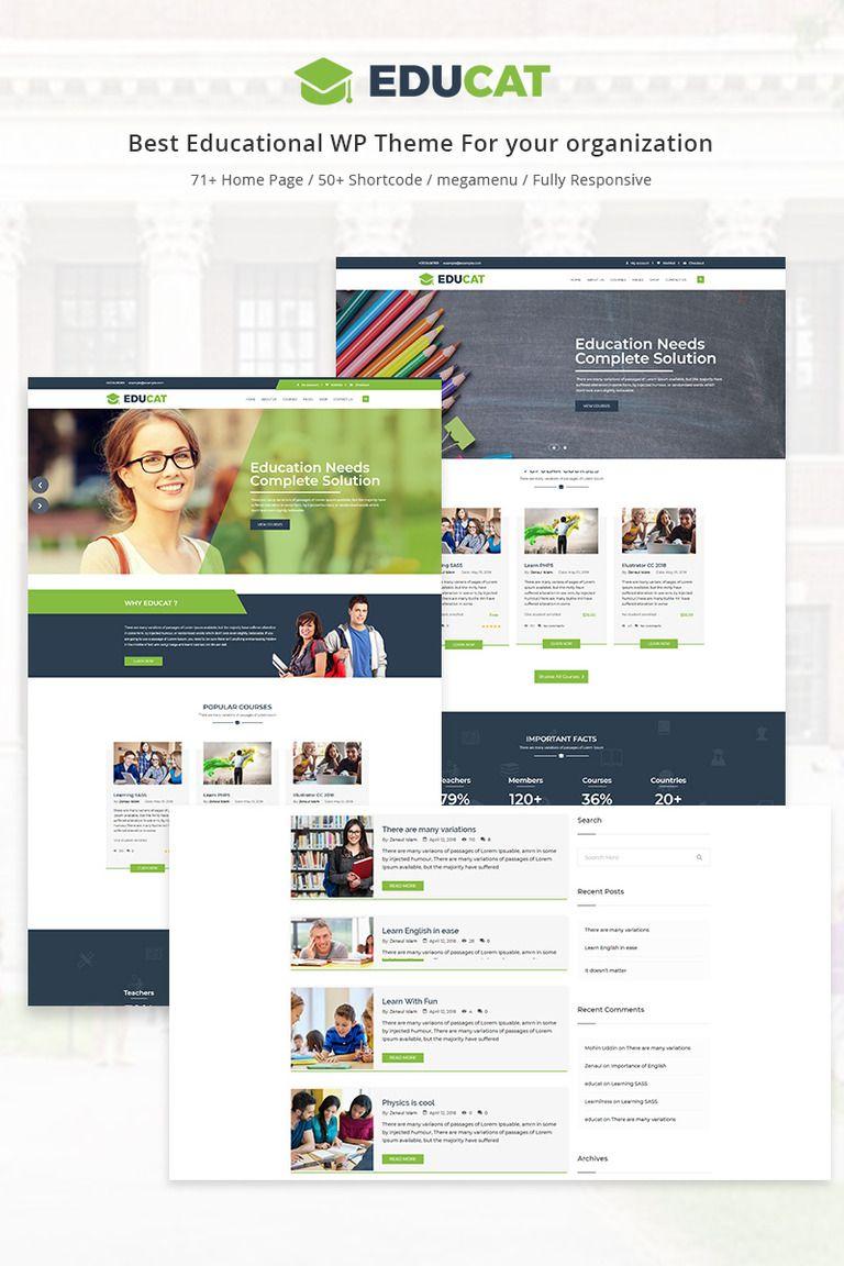 Educat Education WordPress Theme Education wordpress