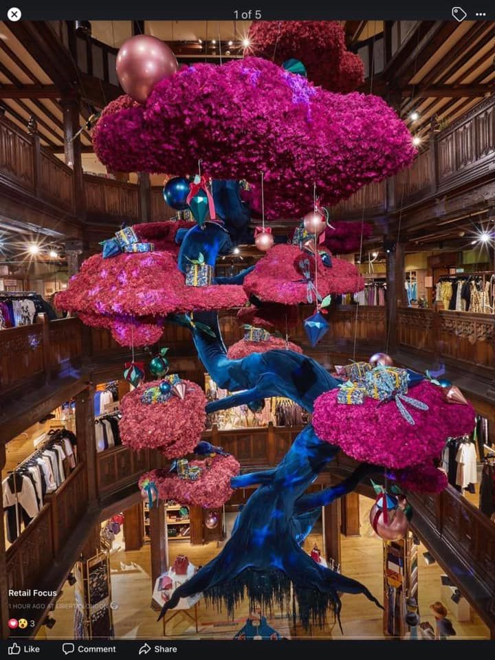 Liberty London launch festive 'Tree of Liberty' windows
