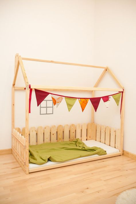 toddler bed full double children bed unique bed bed house house bed montessori toy bedroom. Black Bedroom Furniture Sets. Home Design Ideas