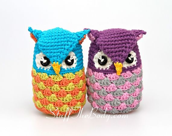 Cute Little Amigurumi Owl : This little cute amigurumi owl differs a lot from my other crochet