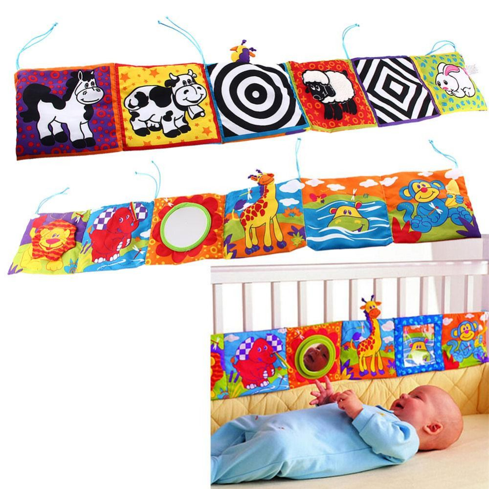 US $5.29 |Baby Toys Baby Cloth Book Animal Bed Cognize ...
