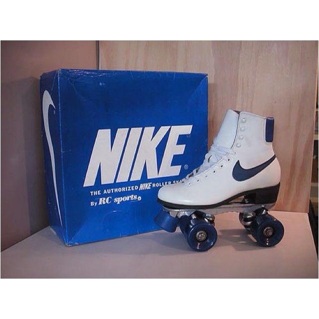 Vintage Roller Skates By Nike I Had These No Big Surprise I M Sure Roller Skates Vintage Roller Skating Roller Derby Skates