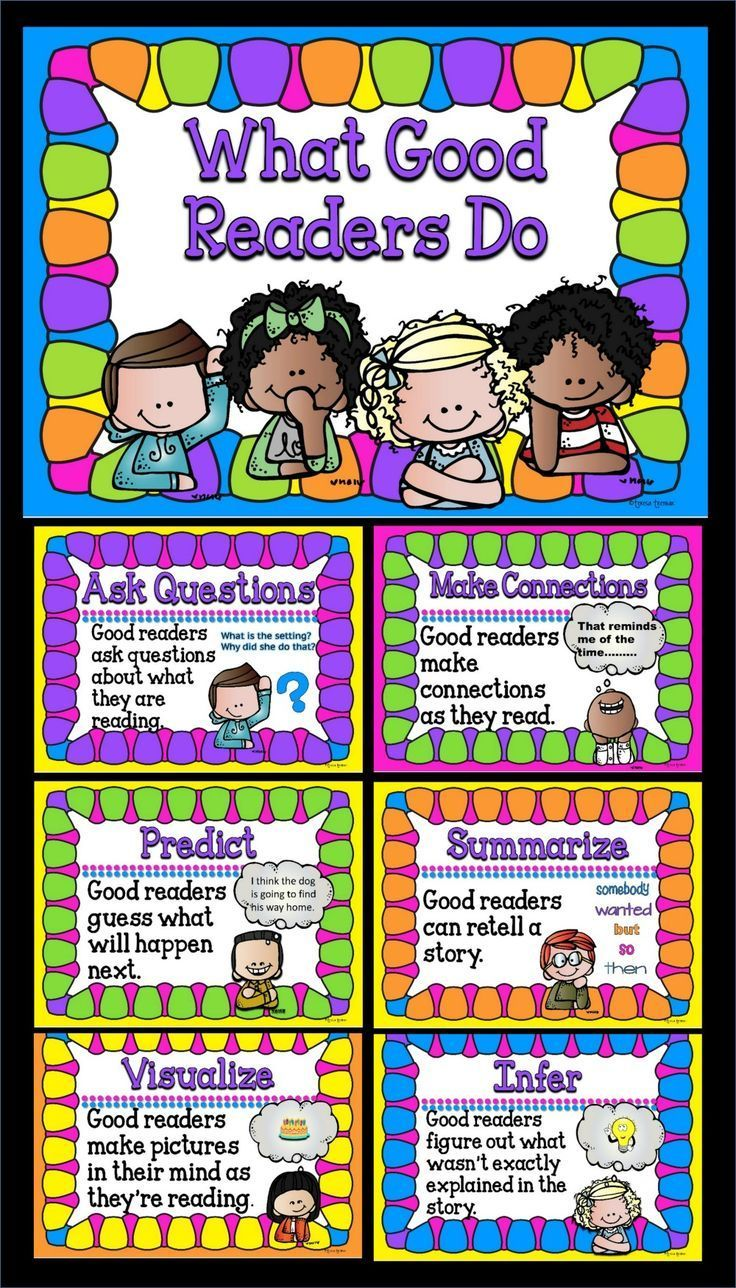 What good readers do display these bright anchor chart posters to help your students with also general reading rh pinterest