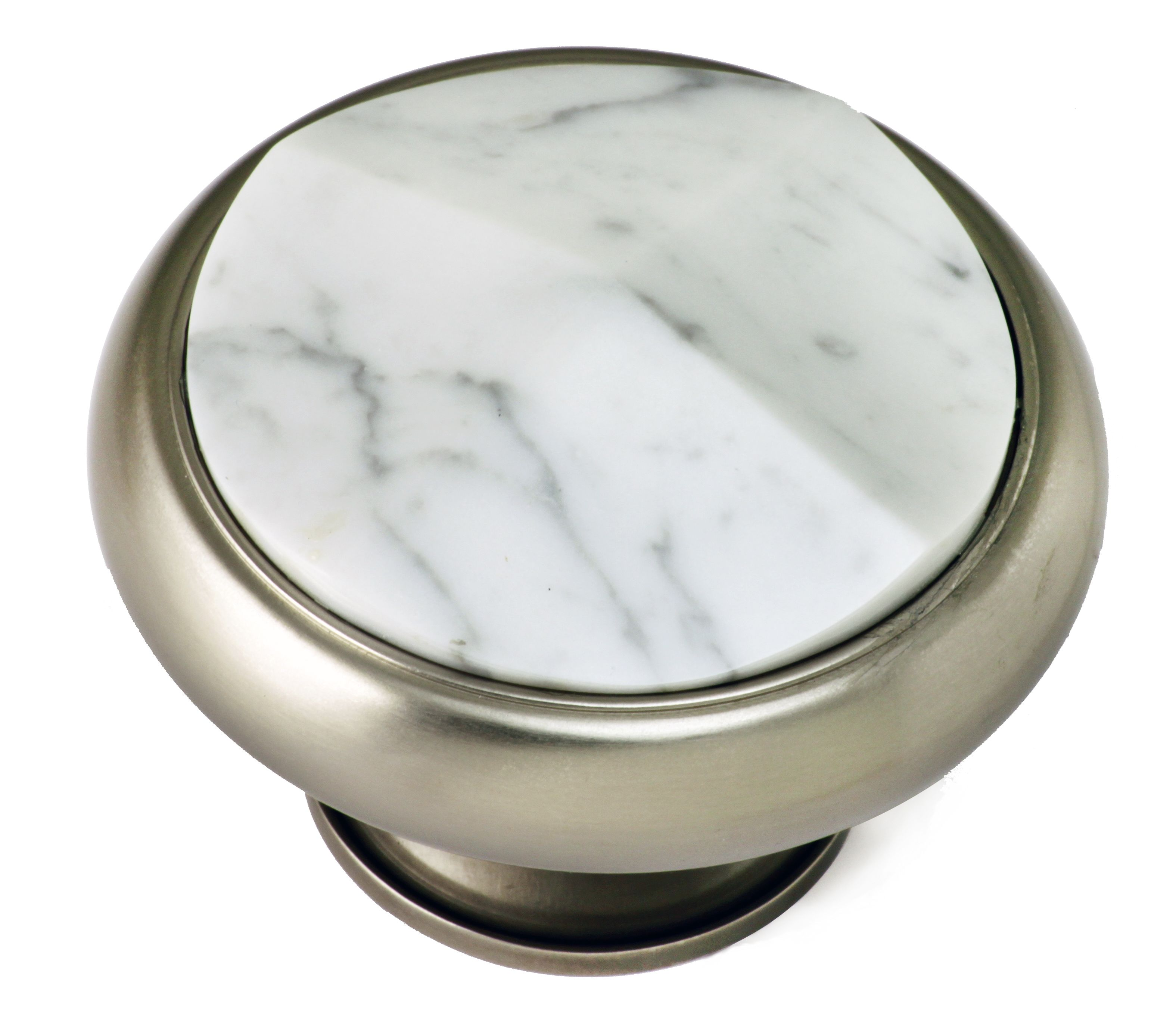 Carrara Marble Set In Satin Nickel Front Door Knob. Fersa Are Bespoke  Hardware Manufacturers Of
