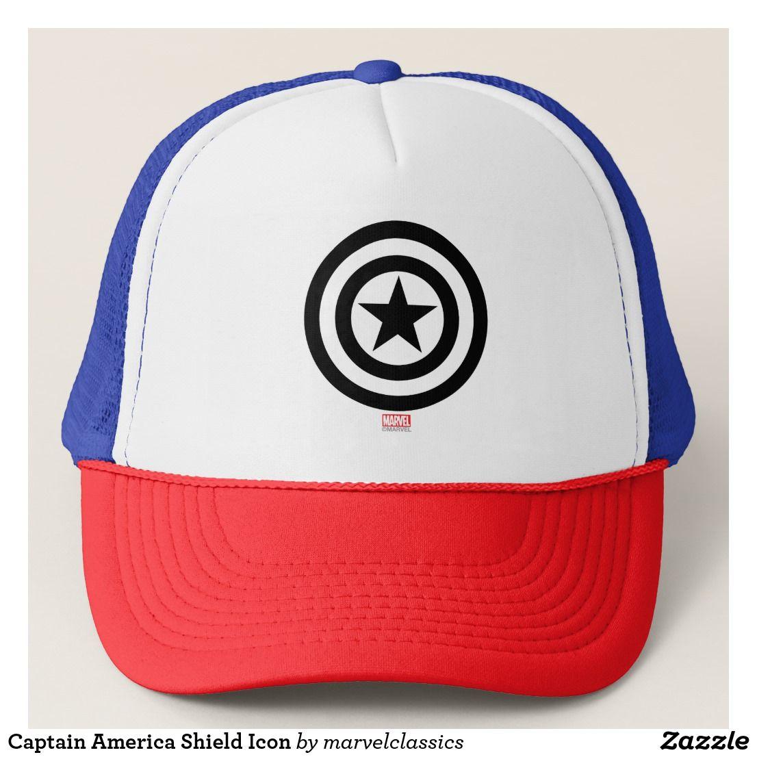 Captain America Shield Icon Trucker Hat | Zazzle com