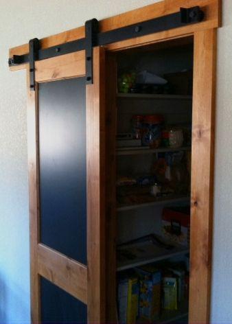 Blackboard Barn Door Pantry This Pantry Door Slides To One Side