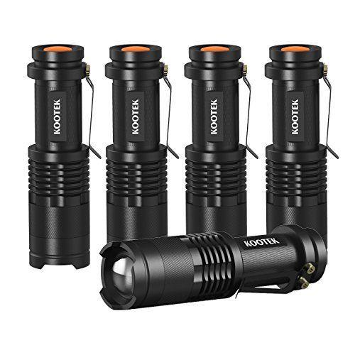 RockBirds Portable Ultra Bright Handheld LED Flashlight LED Flashlights T6-2PACK