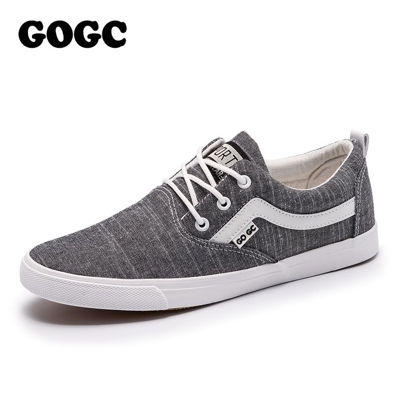 547ec25e4cb7 GOGC 2018 New Style Men Fashion Casual Shoes Canvas Male Footwear  Comfortable Flat Shoes Lace-Up Vulcanized Shoes Men Loafers. Yesterday s  price  US  57.20 ...