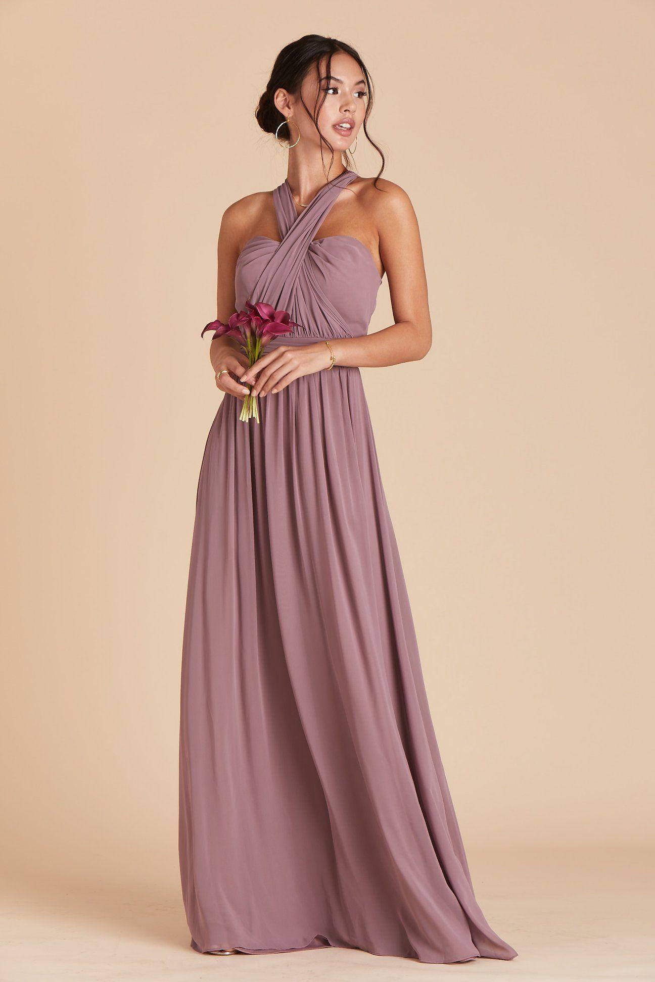 Grace convertible dress dark mauve grey bridesmaid