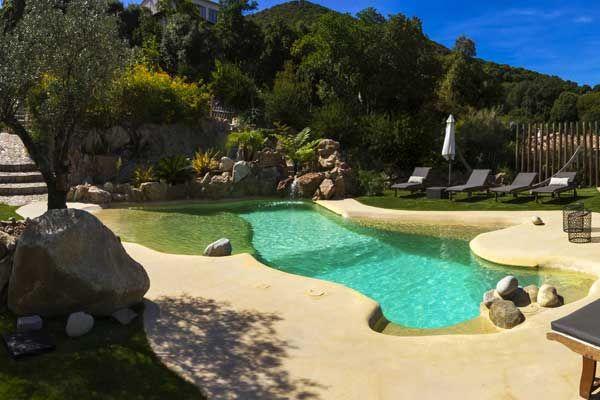 Les piscines à plages immergées - Piscine Azur Ajaccio, Corse, les