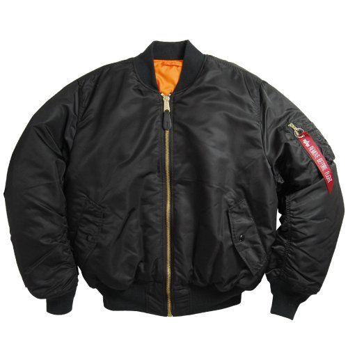 Alpha Industries MA 1 Flight Jacket, Black Size 2XLT. From