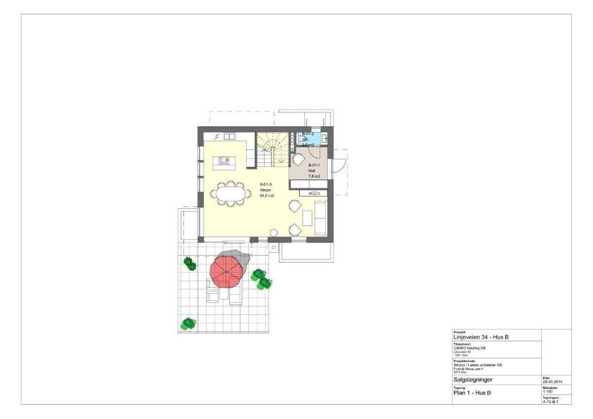 FINN – HØYBRÅTEN - 4 nye boliger (hus A+ B er solgt) Takterr. - garasje - muligh for praktikantdel. Planlagt innfl. neste sommer