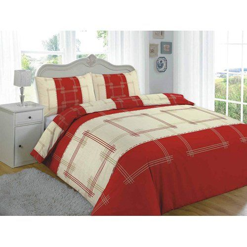 Campus Brushed Cotton Duvet Cover Set Nz Colour Red Size