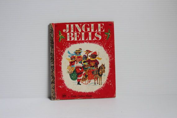 JINGLE BELLS BOOK, 1975 Vintage Little Golden Book, Vintage Children's book, Vintage storybook, vintage paper ephemera, vintage classic