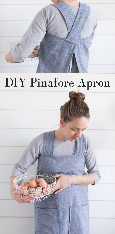 DIY Linen Pinafore Apron for Women Free Pattern -   17 DIY Clothes For Women free pattern ideas
