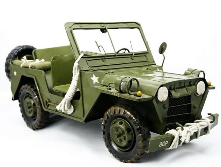 Handmade Antique Model Kit Car Willys Jeep Interessante