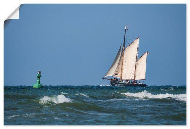 Photo of Artland Leinwandbild »Rico Ködder: Segelschiff auf der Ostse…