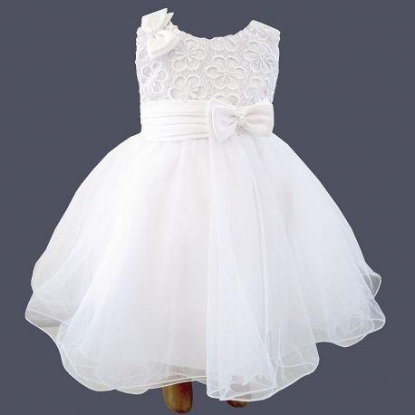 robe de bapt me courte en dentelle satin et tulle louise bapt me pinterest baby couture
