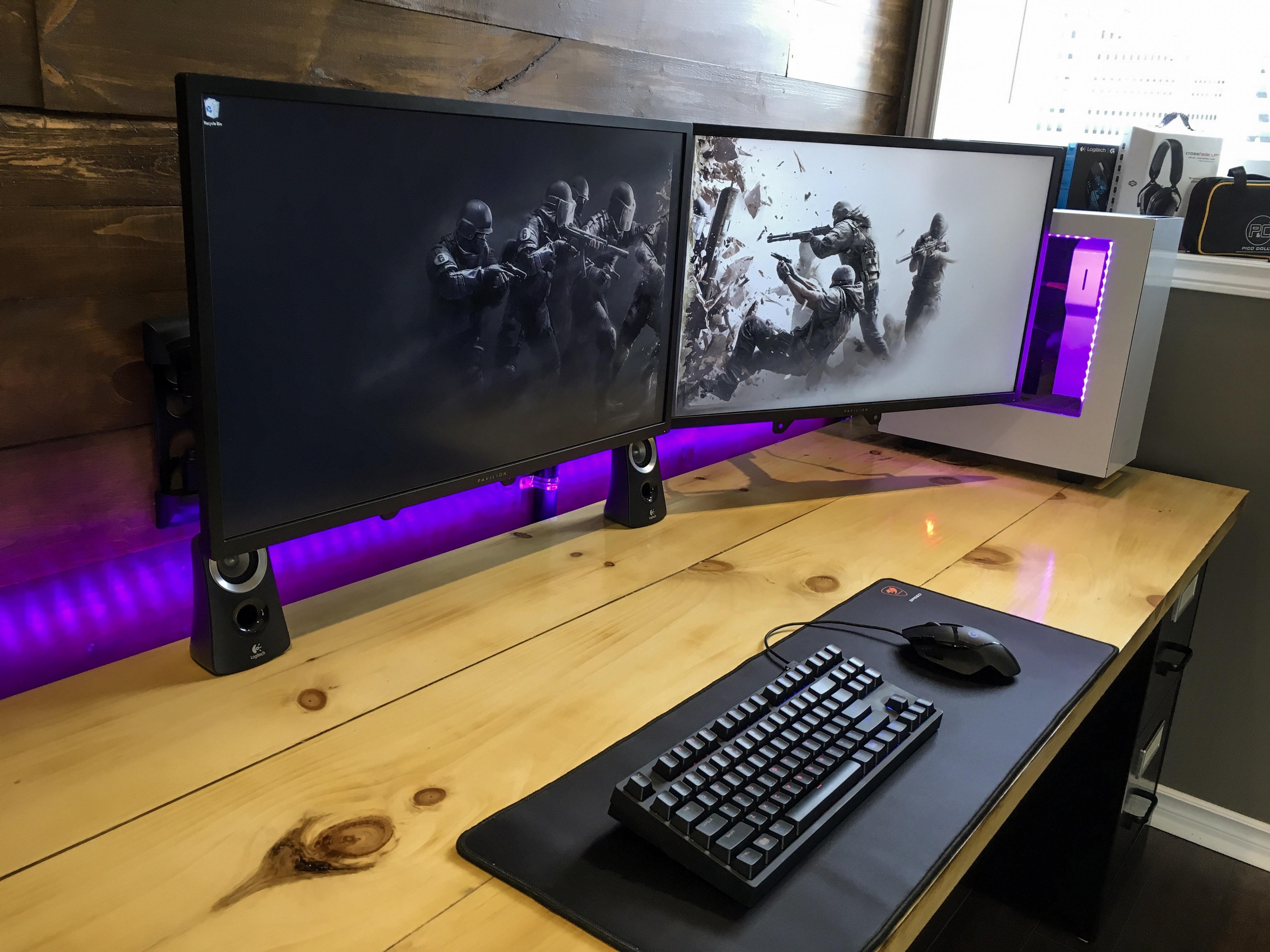 My current setup! Video game rooms, Computer setup