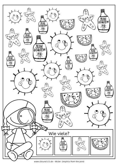 Sommerkalender, Wahrnehmung, Aufmerksamkeit, Feinmotorik ...