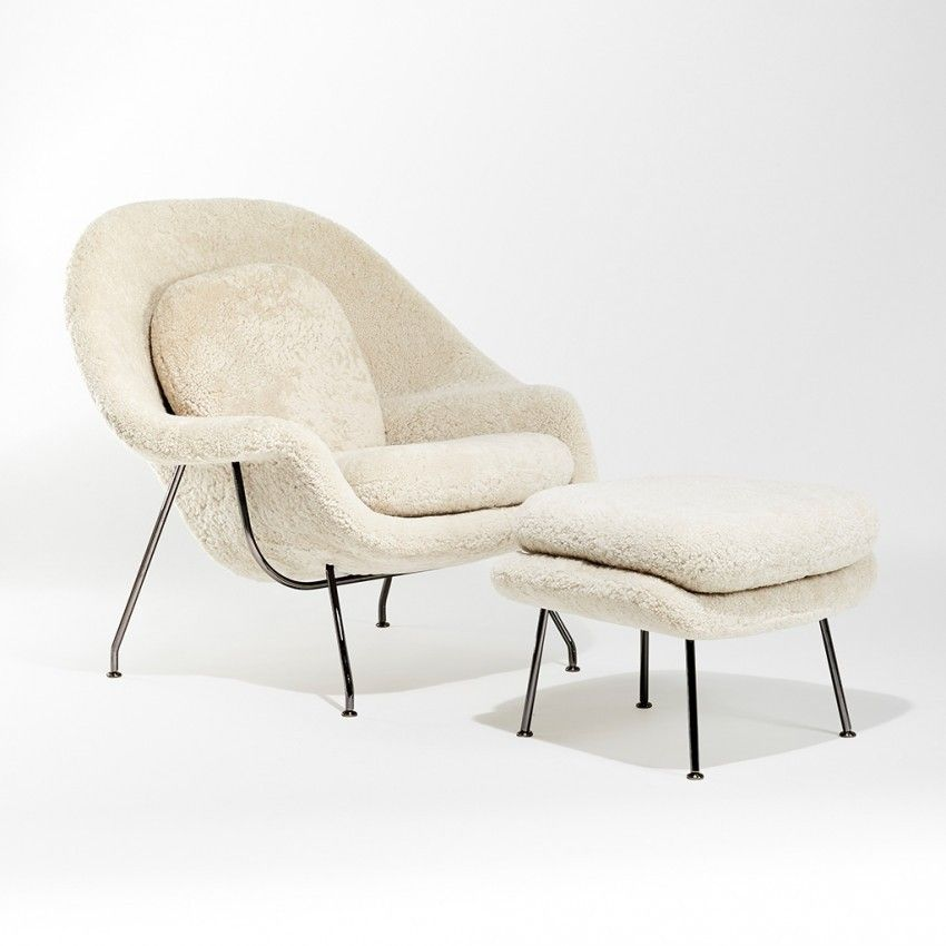 Limited edition womb relax armchair moonlight sheepskin