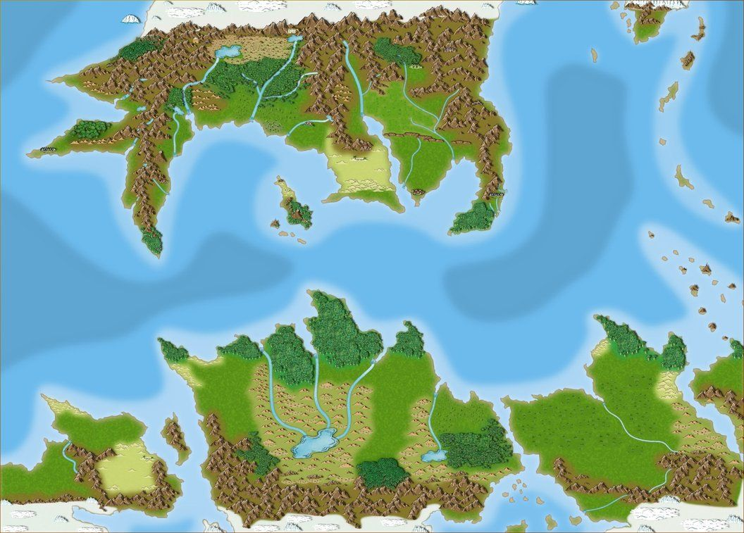 Map of Pern by Oracle-The | BtS Maps, Charts & Badges in