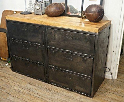 3 tapes pour r aliser un comptoir industriel diy - Renover un meuble industriel ...