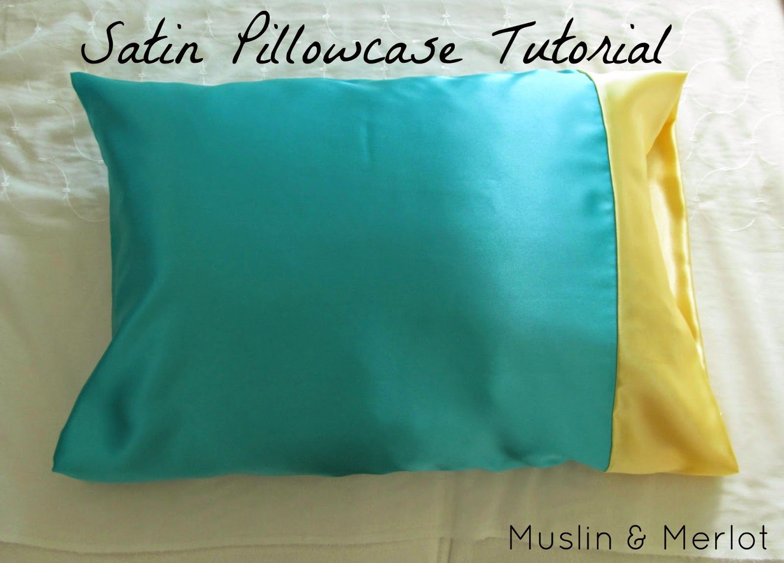 Satin Pillowcase For Curly Hair Satin Pillowcase Tutorial  Satin Pillowcase Tutorials And Sewing