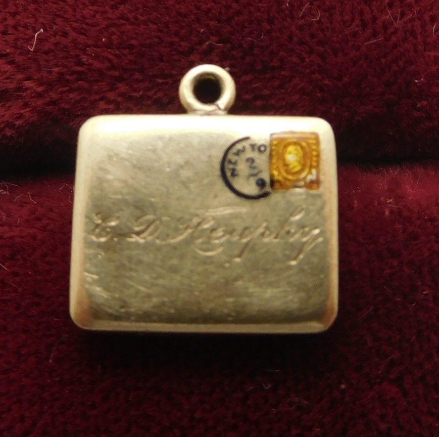 Vintage 14k Gold Briefcase Suitcase Travel Bag New York