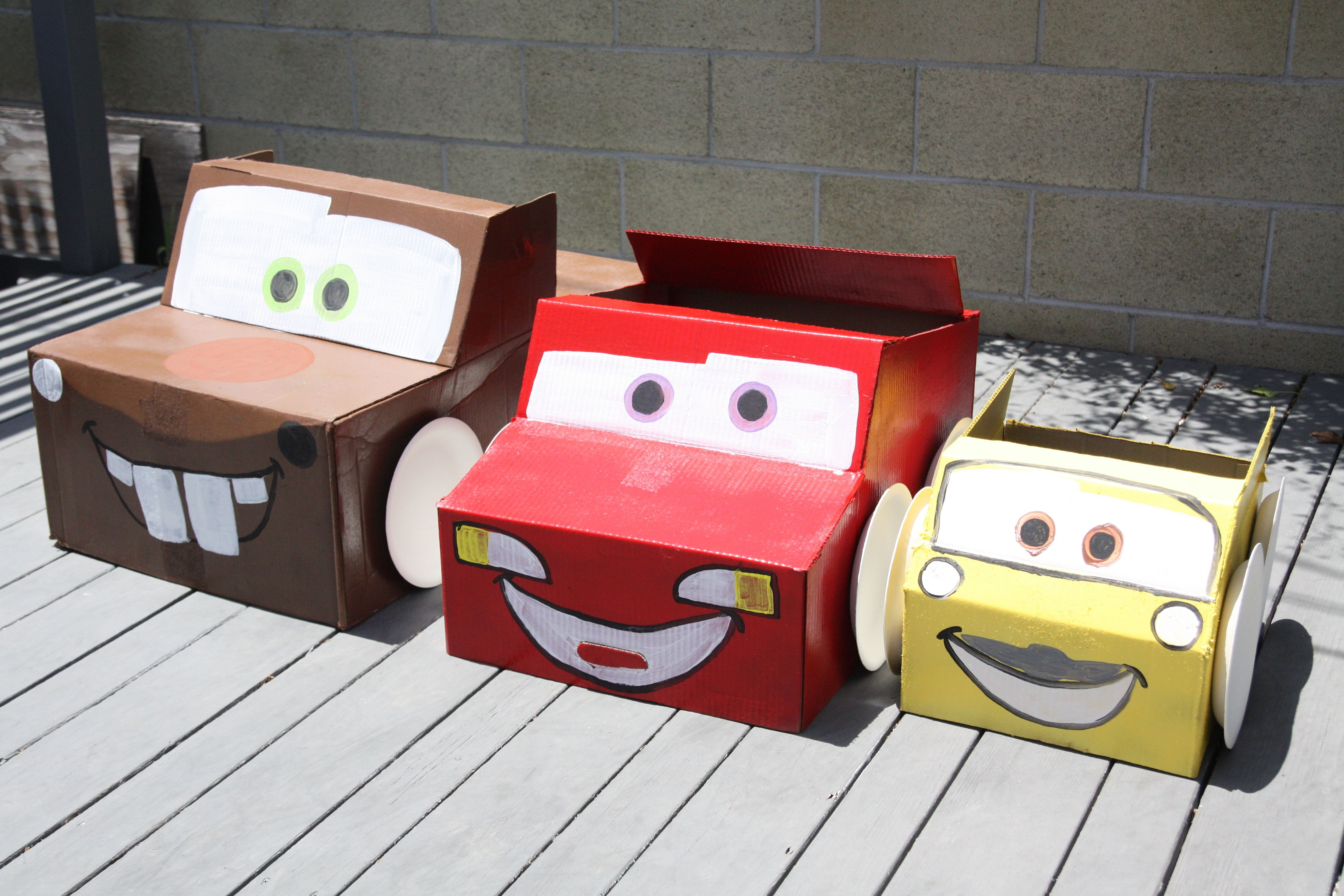 10 Ideas About Cardboard Box Cars On Pinterest: Cardboard Box Cars From The Bday Bash
