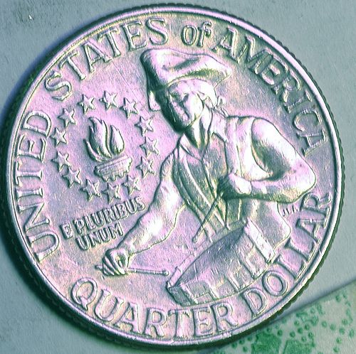 Bicentennial Quarter...... i was born in 76. my father told me the quarters were changed in my honor <3