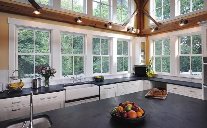 Kitchens Without Upper Cabinets Homeowner Guide Kitchen Remodeling In Lincoln Ne Kitchen