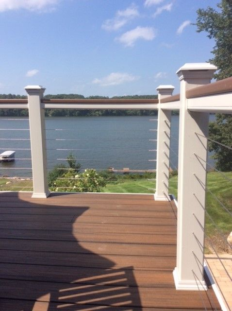 trex decking with cable railing to maximize the view. Black Bedroom Furniture Sets. Home Design Ideas