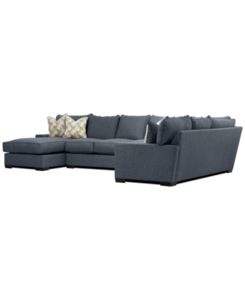 Furniture Tuni 102 3 Pc Fabric Chaise Sectional Sofa With 3