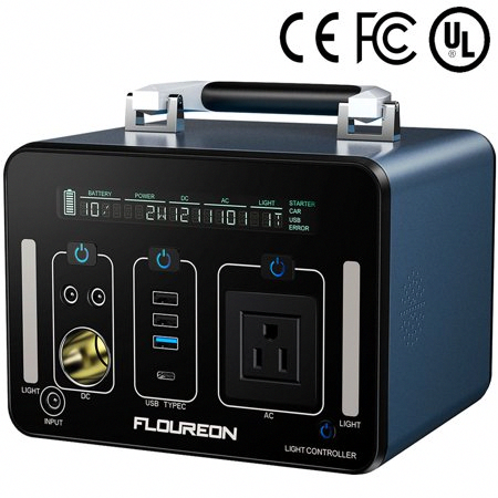 Portable Power Station Floureon 500wh 140400mah Solar Generator For Home Use With 250w Ac Outlet 12v Car 60w Ty In 2020 Solar Generator Solar Energy Generator House