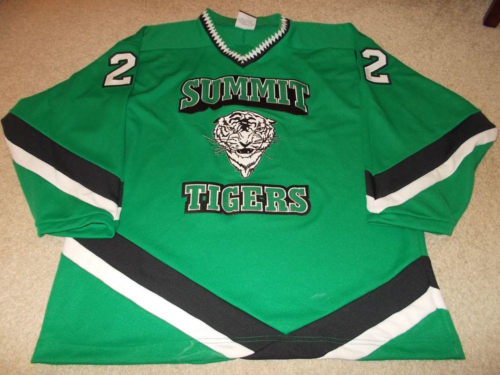 0220b4b26 VTG-1990s Summit Tigers High School Game Worn Used Hockey Jersey ...