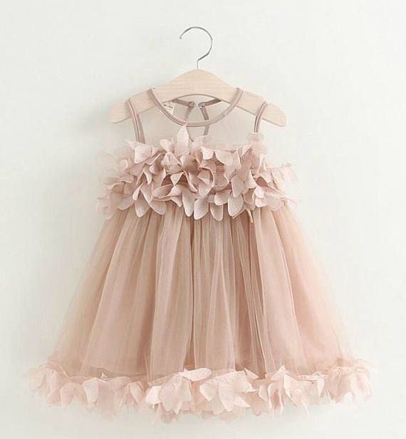 Ships Free Flowergirl Dress Birthday Party Dress Mauve Easter