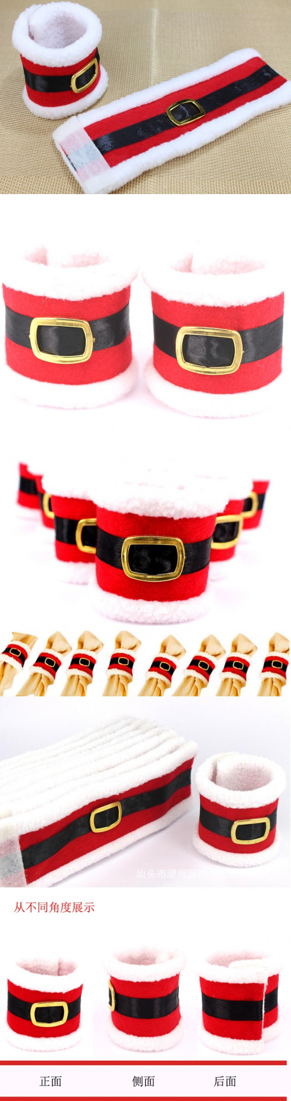 free by ems 500pcs Christmas Home Table Party Dninner Decor 2016 New Year  Xmas Napkin Cover Santa Clause Suit Napkin Rings