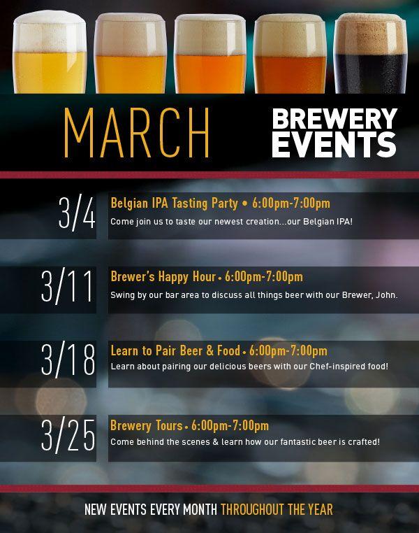 Gordon Biersch Brewery Events March 2015